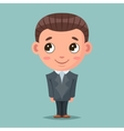 Business mascot good boy ready for job cartoon vector image vector image