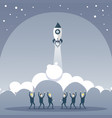 business people group looking at launching space vector image vector image