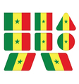 buttons with flag of Senegal vector image vector image