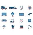 cargo shipping symbols vector image vector image