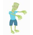 Cartoon zombie isolated on white vector image vector image