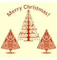 Christmas card with stylized trees vector image vector image