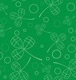 Clover leaves background St Patricks day Seamless vector image vector image
