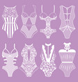 collection of lingerie body vector image vector image