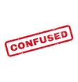 Confused Text Rubber Stamp vector image
