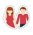 couple romantic love together cut line vector image vector image