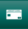 credit card icon banking card in flat style on vector image