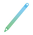 degraded line wood pencil object school style vector image vector image