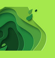 eco abstract green paper cut background vector image vector image