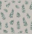 elegant hand drawn christmas seamless pattern vector image vector image