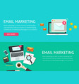 email digital marketing concept advertising tech vector image