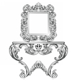 Exquisite Rich Rococo furniture set vector image vector image