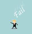fail investment cartoon concept vector image