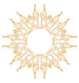 flower symbol on white background vector image vector image