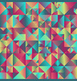 geometrical triangle background design vector image vector image