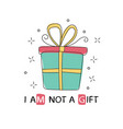 gift box icon in doodle sketch lines hand drawn vector image