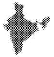 halftone schematic india map vector image