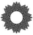 hand drawn vintage decorative wreath vector image