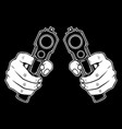 hand holding a gun hand drawing vector image vector image