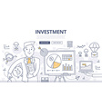 investment doodle concept vector image vector image