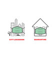 lockdown and quarantine icons editable strokes vector image vector image