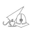 london custodian helmet in black and white vector image