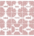 Mehndi henna frames Set indian patterns for vector image