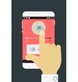 Mobile travel app vector image