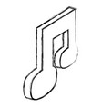 music file symbol vector image vector image