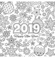 new year congratulation card with numbers 2019 and vector image vector image
