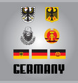 official government elements of germany vector image