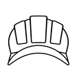 outline helmet head protective industrial vector image