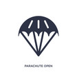 parachute open icon on white background simple vector image vector image