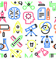 pattern creativity linear icons vector image