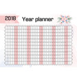 planner for 2018 wall working vector image vector image