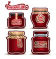 pomegranate jam in jars vector image vector image