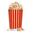 pop corn bucket vector image