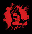 pray prayer praise to lord vector image vector image