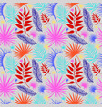 rainforest exotic leaves pattern vector image