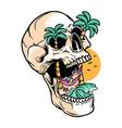 relax on skull island vector image