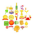 resolution icons set cartoon style vector image vector image