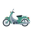 retro scooter motor bike vehicle side view flat vector image vector image