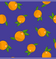 seamless pattern grapefruit on purple background vector image vector image