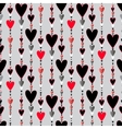 Seamless pattern Hearts striped background vector image vector image