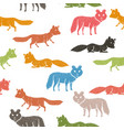 seamless pattern with companion dogs or wolves or vector image vector image