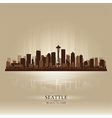 Seattle Washington skyline city silhouette vector image vector image