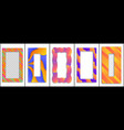 set colored trendy gradient frame vector image vector image