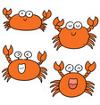 set of crab vector image
