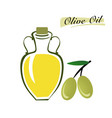 set of elements of olive oil branch with green vector image vector image