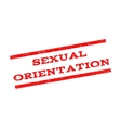 Sexual Orientation Watermark Stamp vector image vector image